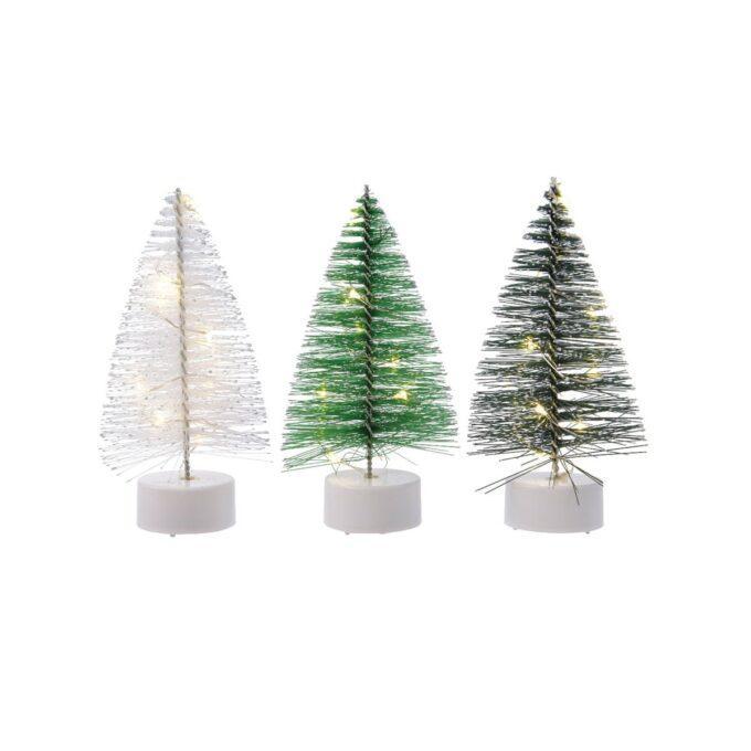 Juleby juletre 3 ass med 8 lys