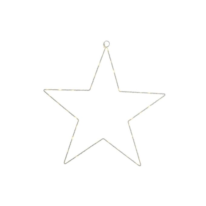 micro LED white star frame out 58x58 cm