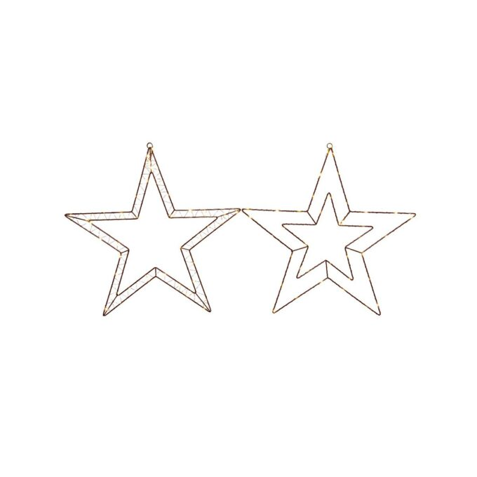 Micro LED metal stjerne 2 stk 47 cm