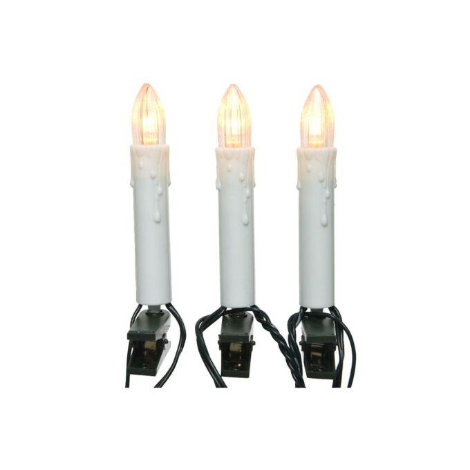 Juletrelys med LED 30 LEDlys. Totallengde 13,1 meter meter. Kabel fra trafo til lys er på 1,5 meter.