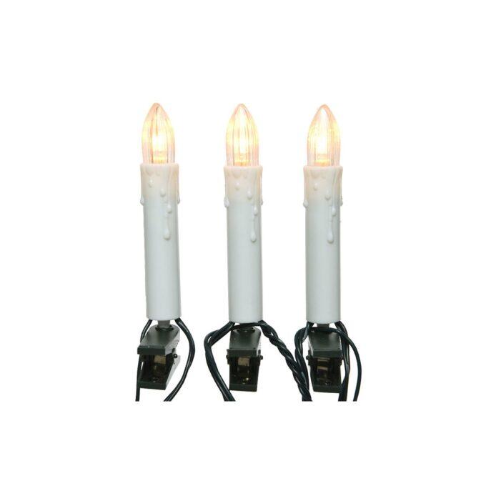 Juletrelys med LED 600 cm 16 L Totallengde 7,5 meter. Kabel fra trafo til lys er på 1,5 meter.