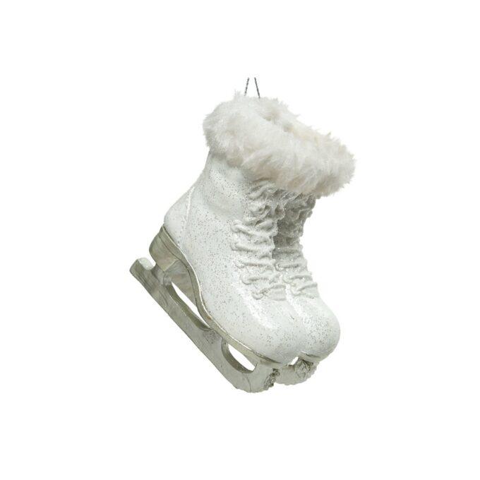 Julepynt skøyte hvit