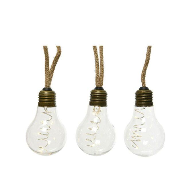 hemp rep med lyspærer 3 stk