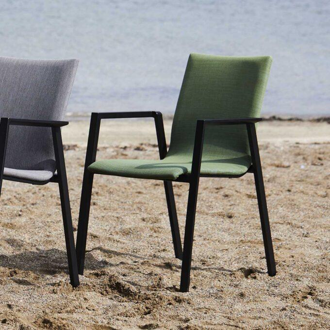 Stablestol Austin Sort / Grønn Textilene