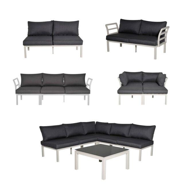 Sofagruppe Cadiz byggbar gruppe hvit