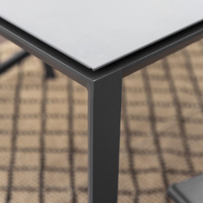 Spisebord Mendoza 160x90 koksgrå aluminium