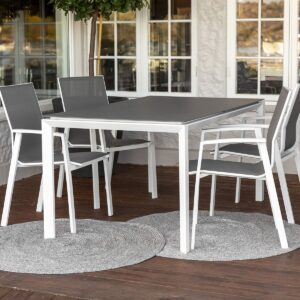 Spisebord Mendoza hvit 160x90