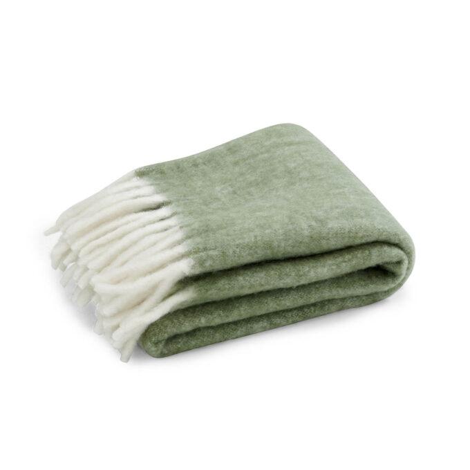 Pledd Handzame grønn ullmix