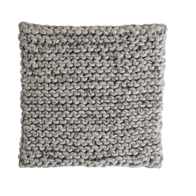 Sittepute Pego grå firkantet ull
