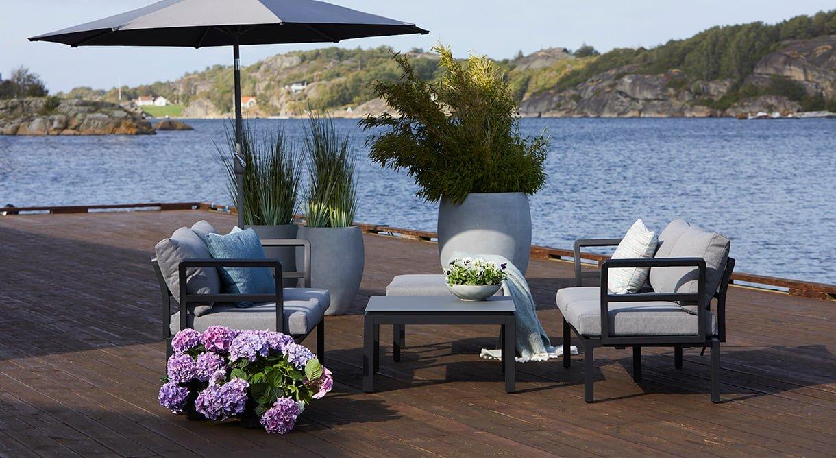Moderne og komfortabel sofagruppe som er ekstremt fleksibel.