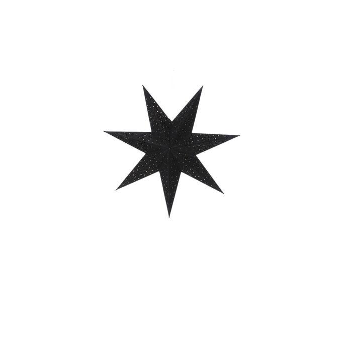 Adventstjerne sort Diameter 45 cm