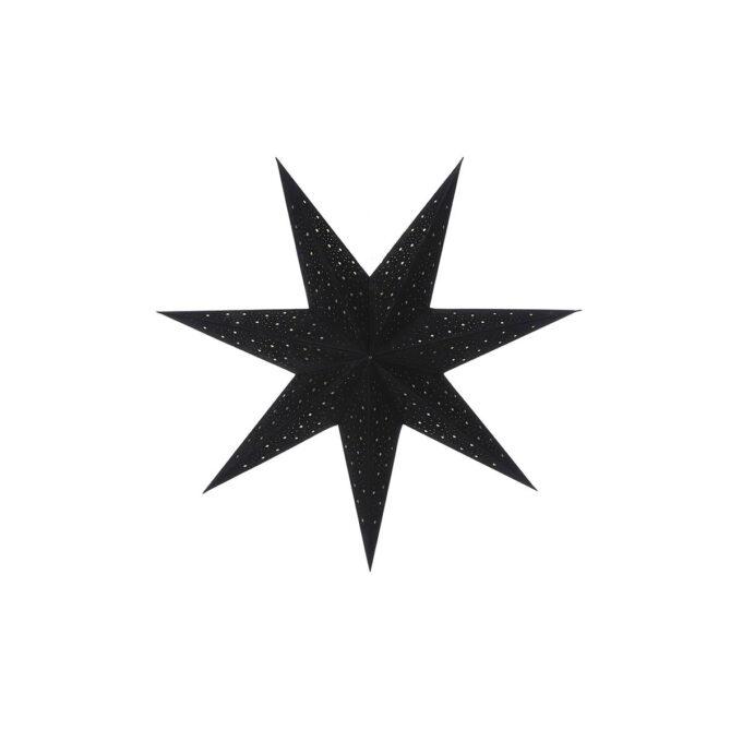 Adventstjerne sort Diameter 60 cm