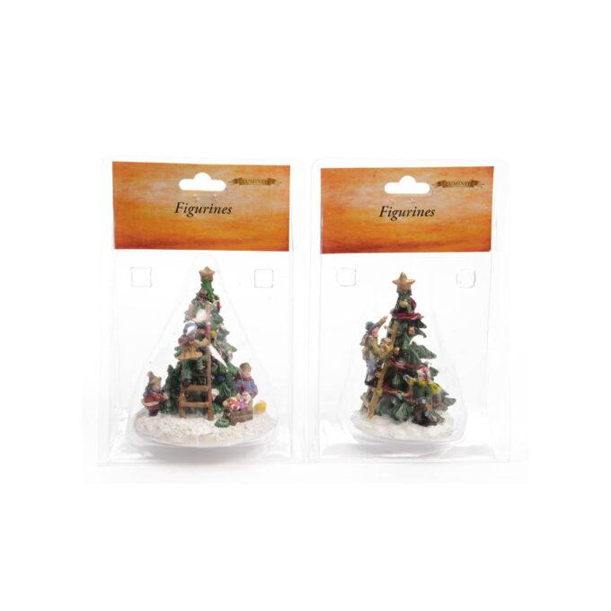 Pynting av juletre hører til i julebyen eller som en figur på julebordet Fine til pynt rundt pepperkakehuset 7x10 cm Pris pr stk