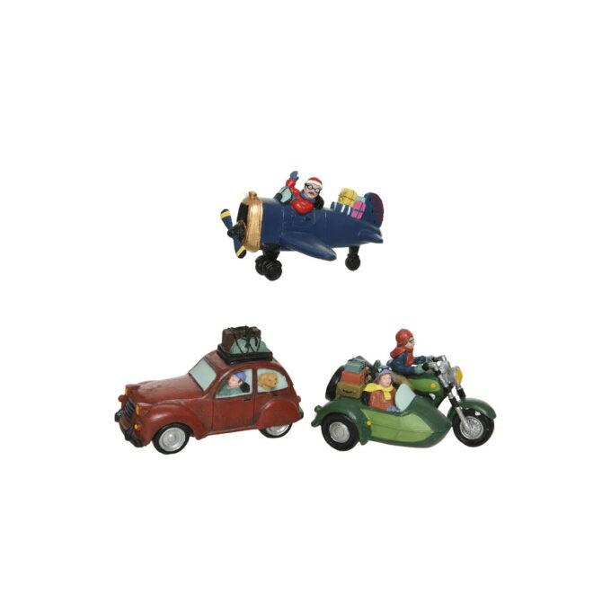 Juleby bil på reise Hjem til jul- her er det ulike biler på vei til julefeiring.