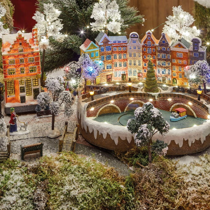 Juleby tilbehør. Brostein gate. 9x69 cm.