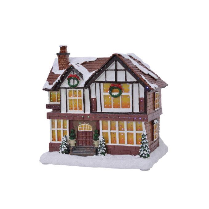 Koselige hytter til julebyen her kan en skape en fin julestemning i julebyen. Hyttene kommer med lys og går på batteri.