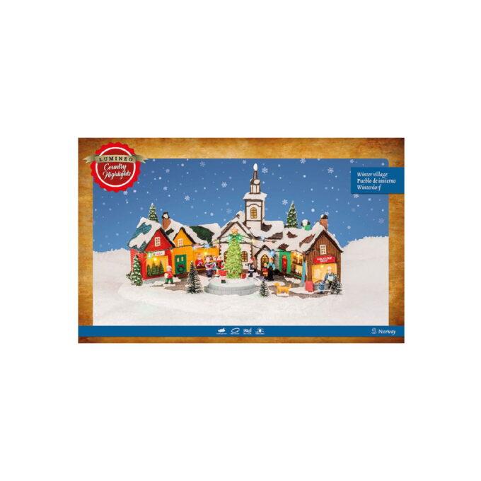 Koselig norsk julemarked der du får julestemning. Kommer med bevegelse og lys. Denne går på strøm