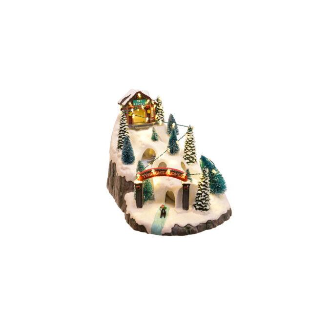 Juleby Startsett med figurer som står på ski og koser seg i snøen. 10 stk forskjellige figurer i pakken.