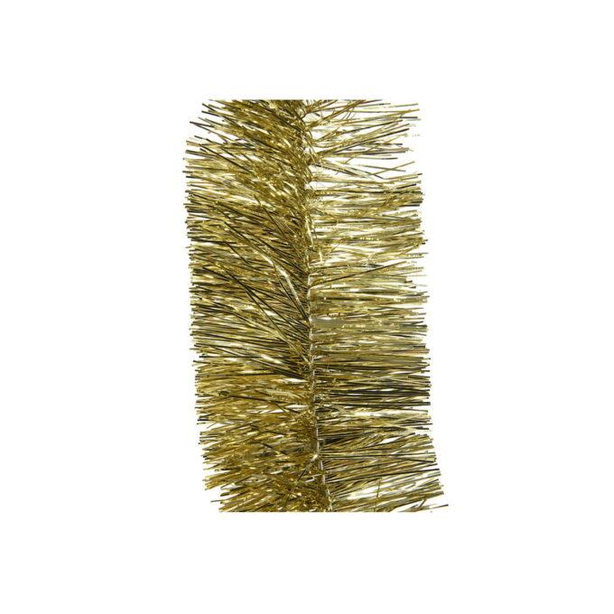 Girlander i gull på 270 cm lenge til å pynte juletreet med eller på bordet.