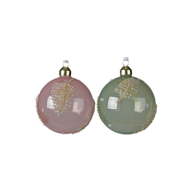 Julekuler i rosa og lys grønn. Kommer i assorterte farger 2 pakk
