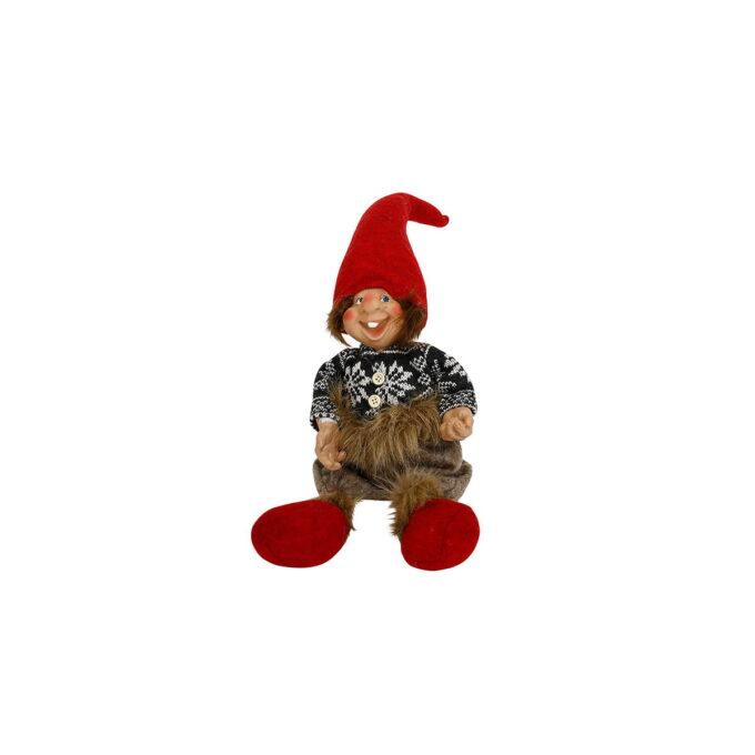 Claus er en morsom og koselig nisse som får frem julestemningen. Denne kommer i flere utgaver- denne er en sittende utgave- som passer fint på en hylle, eller sofakanten.