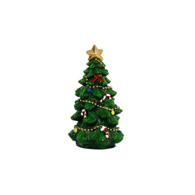 Stilrent juletre til pynt på bordet eller i dekorasjonen, høyde 11,5 cm