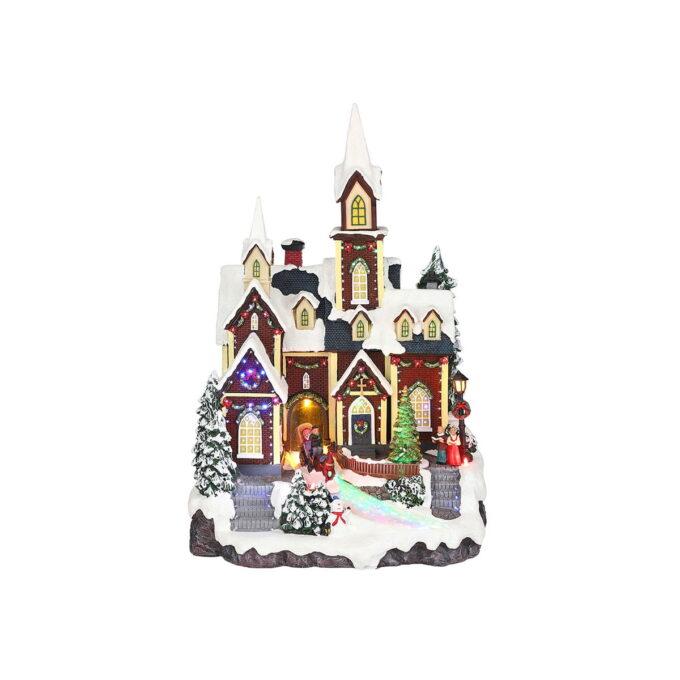 Juleby bysentrum Luville Fin juleby med barn som aker i byen. Denne går på strøm.