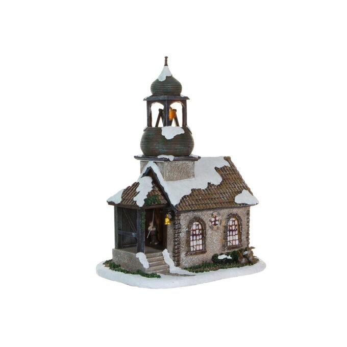Nydelig kirke til julebyen. 25cmx17,5cmx31cm høy. Denne Går på strøm
