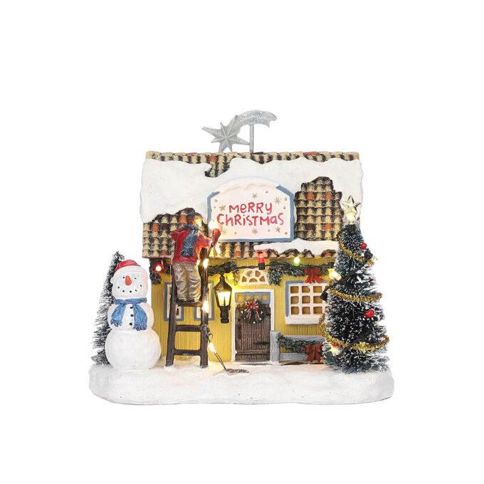 Juleby pyntet julehus Her pynter vi til jul, med lys og glitter. Går på batteri. Hører til Luville orginaleserien, som er samleserien til Luville.