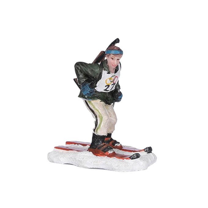 Juleby skiskyterutøver Luville 6cmx4cmx6,5cm høy Alle figurene er håndmalte med nydelige detaljer.
