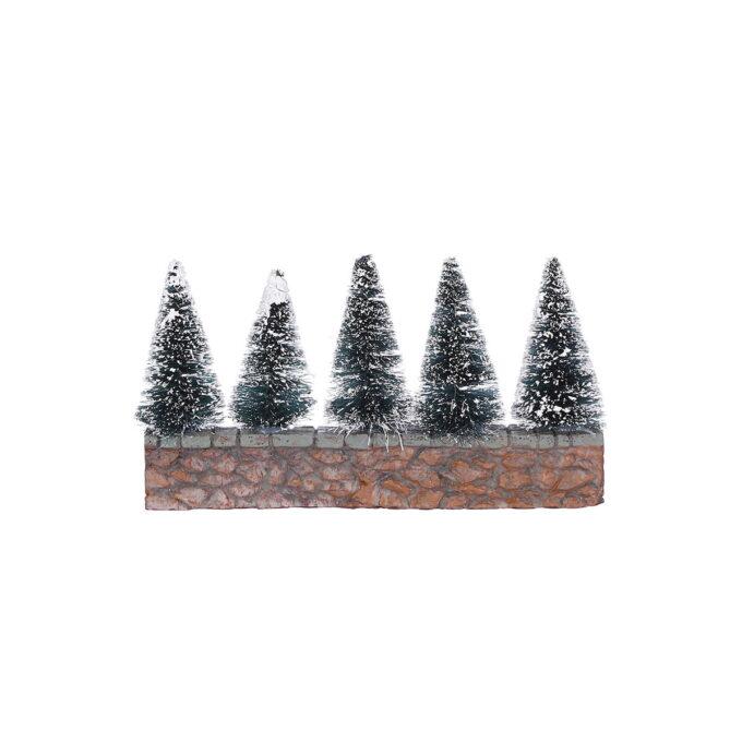 Juleby trær på steinmur Hører til Luville orginaleserien, som er samleserien til Luville. 14cmx2,5cmx4,5cm høy