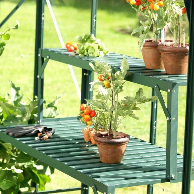 Topp til aluminiumsbord - grønn