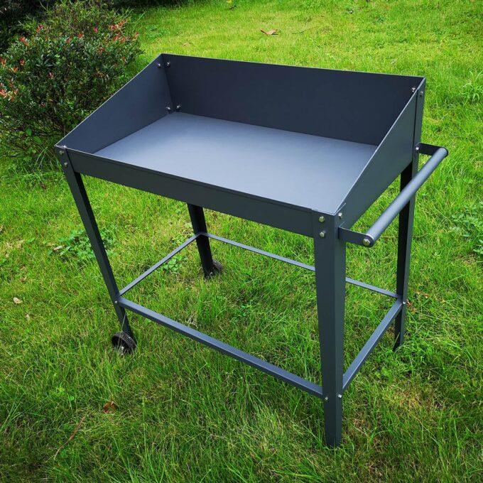 Veksthus bord med hjul 92x44x92 cm