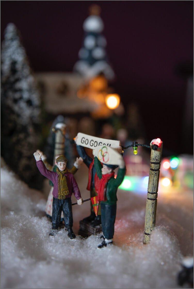 Mennesker i julebyen