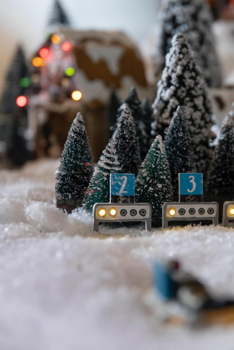 Skiskytterblink i juleby