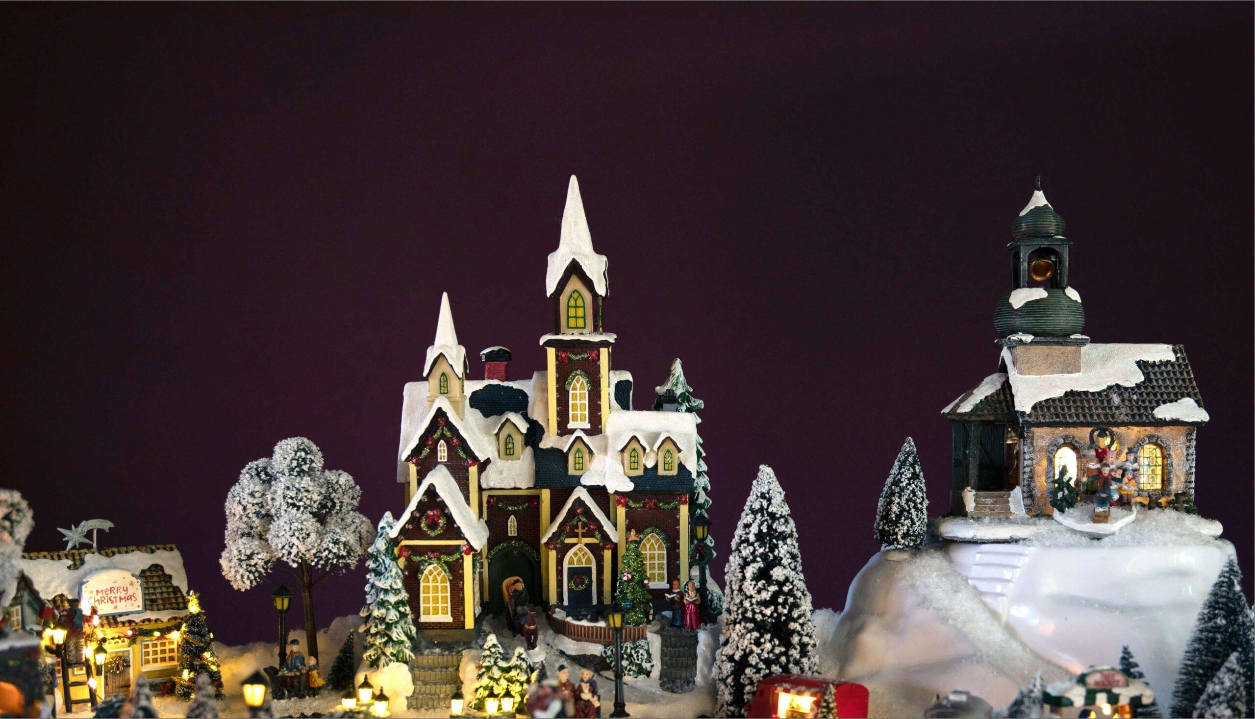 Oversiktsbilde over julebyen fra Hageland