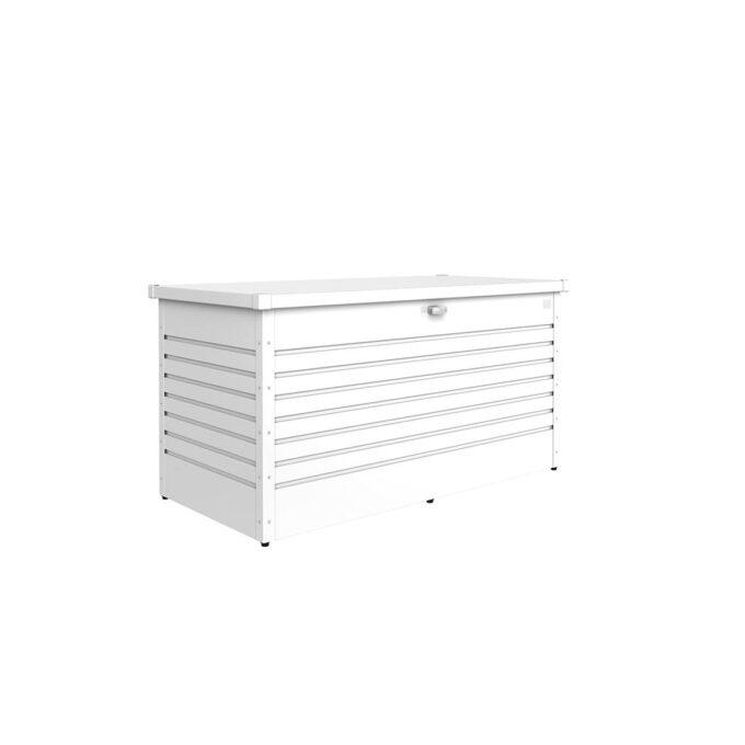 Høy putekasse Lesiuretime, hvit, 830 liter, vanntett og ventilerende, vedlikeholdsfri.