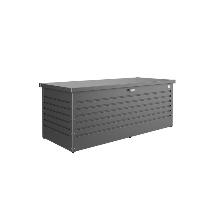 Putekasse Leisuretime, mørk grå, 800 l, vanntett og ventilerende, 20 års garanti, vedlikeholdsfri.