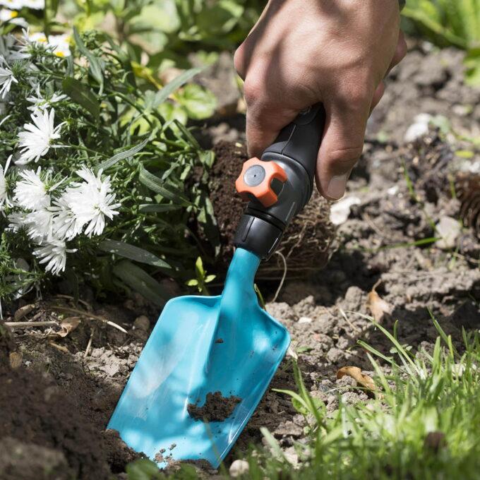 det optimale verktøyet til planting og omplanting i blomsterkasser, urtepotter og blomsterbed.