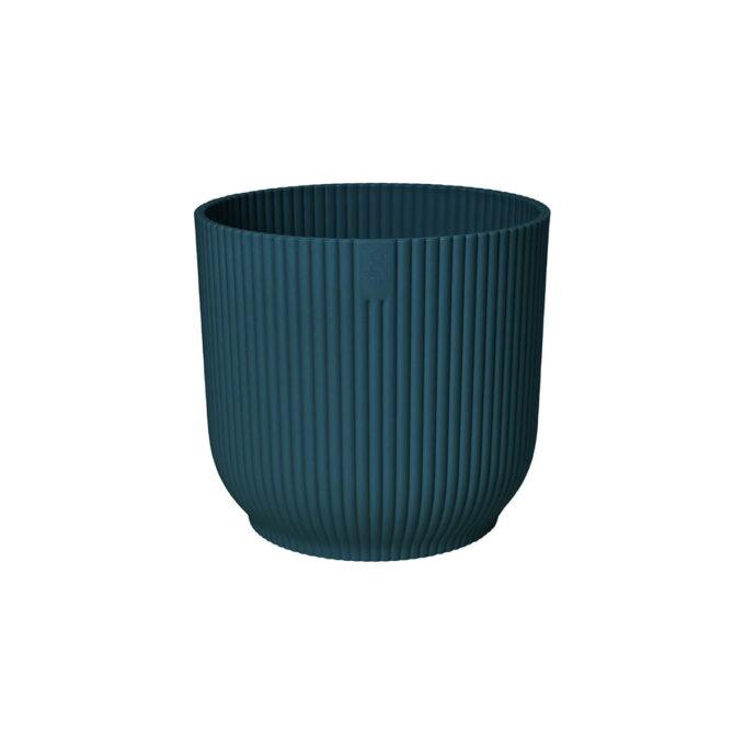 Plastpotte i resirkulert plast 22 cm Dyp Blå