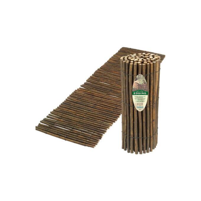Gresskant i pil brukes som avgrensning mellom bed og plen slik at gresset ikke vokser inn i bedet.