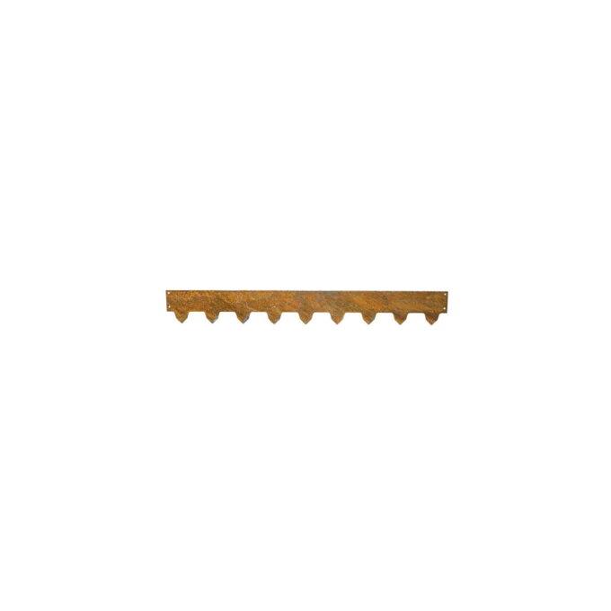Fleksibel og stilig hagekant i ubehandlet metall som lett kan monteres i jorda. Den kan enkelt bøyes og formes
