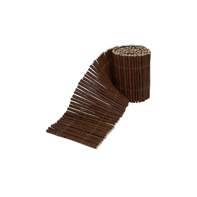 Kantbånd i pil brukes som avgrensning mellom bed og plen slik at gresset ikke vokser inn i bedet.