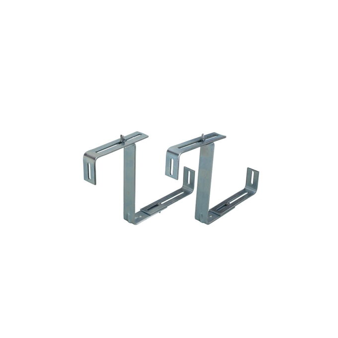 Ekstra kraftig konsoll for opphenging av verandakasser på vegg eller en verandarekke. i galvanisert stål