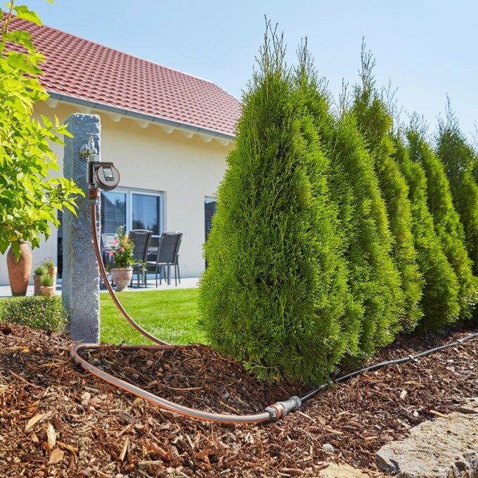Startsett for vanning av planterader der 25 meter dryppslange er inkludert