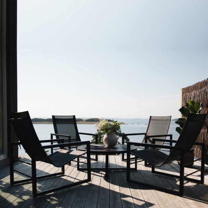 Det nordiske og morderne designet preger denne serien- og loungegruppen her gir en perfekt avslapning og sosialt samvær.