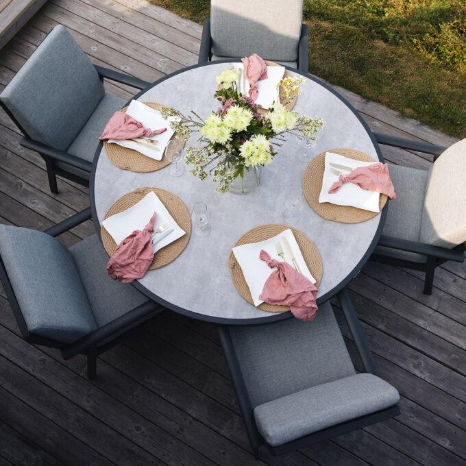 Samvaro spisegruppen er en flott spisegruppe der en kan nyte måtidet på sommeren lenge.