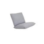 Trekk til Blixt stol i lys grå farge. Trekket er i olefinstoff med vannavisende belegg på innsiden.