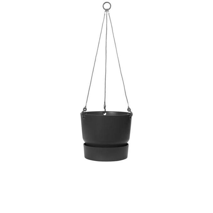 Hengepotte med vannreservoar sort 24 cm