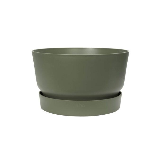 Planteskål med vannreservoar løvgrønn